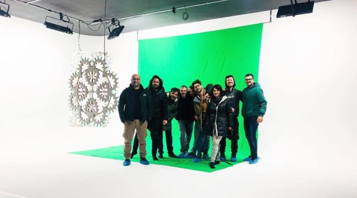 Limbo fotografico bianco e green screen